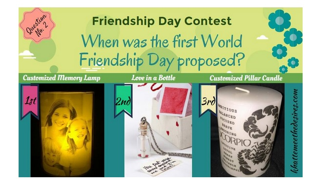friendship day contest