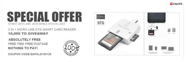 otg free reader sample