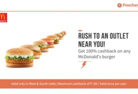 Freecharge McDonald Cashback Sample: Buy 2 Get