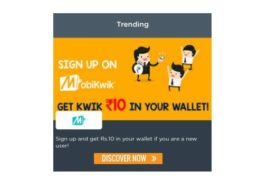 Register At Mobikwik And Get RS.10 Recharge India